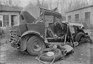 Sitting in a boston wrecking yard this cross section of a wreck shows