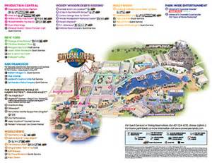 Universal Florida Map by Universal Orlando Maps Including Theme Parks And Resort Maps