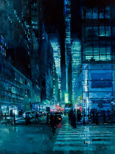 Painting And Cityscapes brooding cityscapes painted with oils by mann