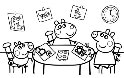 Colorear Peppa Pig Juegos Para Descargar The Pig Coloring Pages