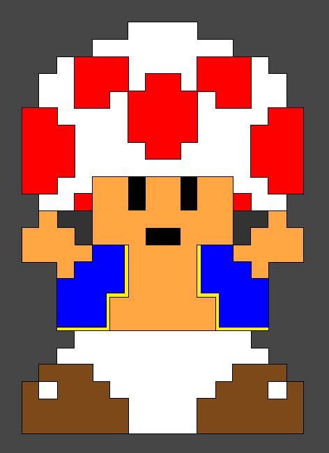 pixel art toad playing nintendo nes pixelated super pixel toad by evilcarcrash on deviantart