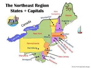map of northeast united states with capitals northeast capitals gallery