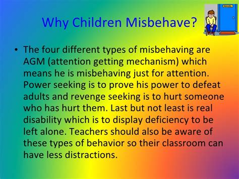 7 Reasons Why Misbehave by Special Education