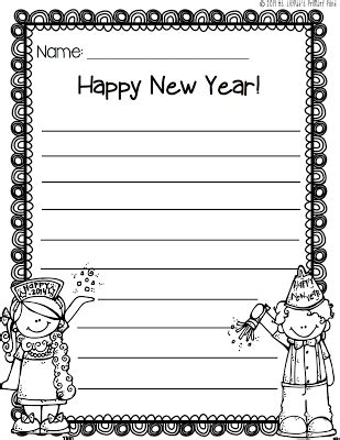 new year writing new year s writing paper freebie writing paper goal and