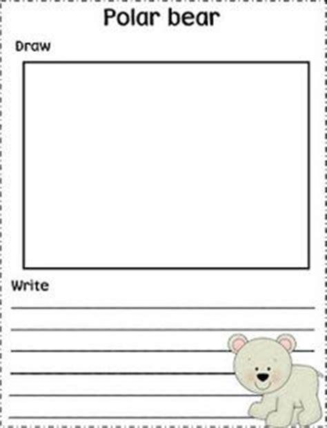 polar writing paper bears and polar animals on arctic animals