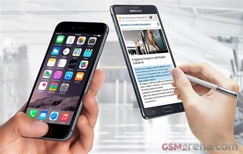 iphone 6 plus vs galaxy note 4 gsmarena tests