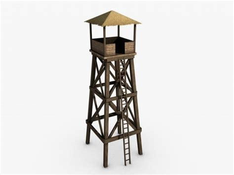 Low Camp Chair Watchtower 3d Model Max Obj 3ds Fbx C4d Cgtrader Com