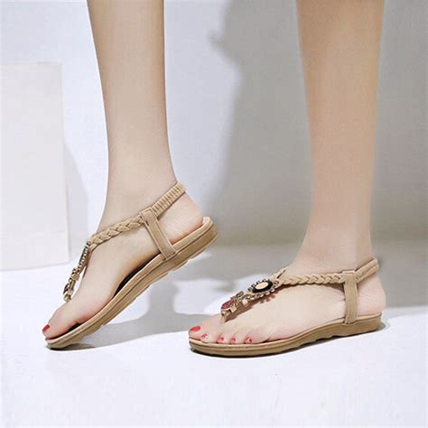 17 Most Fabulous Flat Shoes For Summer by Lakeshi Sandals Ankle Flat Sandals Summer