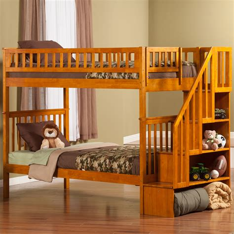 woodland twin bedding woodland twin over twin bunk bed staircase dcg stores