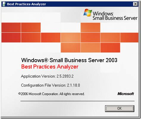 best small business server small business server 2003 best practices analyzer updated