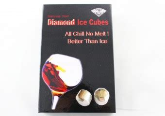 Package 04 4 Cube Bean Bag 4pcs health stainless steel whiskey cube glacier