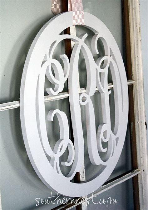Wood Monogram For Front Door Thick Quot The Prep Quot Circle Large Wooden Monogram Monogram Your Home Monograms Wreaths And Door