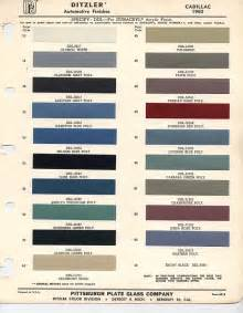 Cadillac Color Chart 1960 Cadillac Colors Classic Cars Cadillac