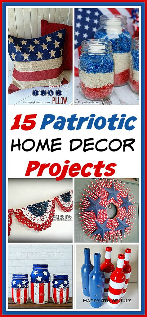 Patriotic Decorations For Home 15 Creative Patriotic Diy Home Decor Projects