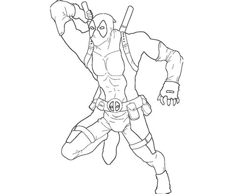 Coloring Page Deadpool by Free Baby Deadpool Coloring Pages