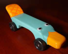 perry the platypus pinewood derby car perry the