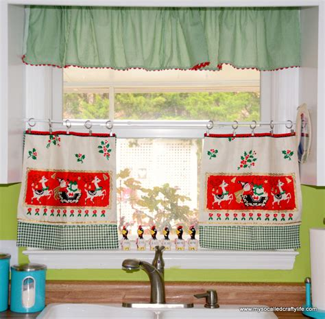 christmas window curtains diy christmas curtains my so called crafty life
