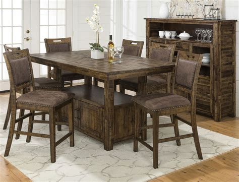 Bar Height Dining Table And Chairs Adjustable Height Table And 4 Counter Height Chairs Levin Furniture