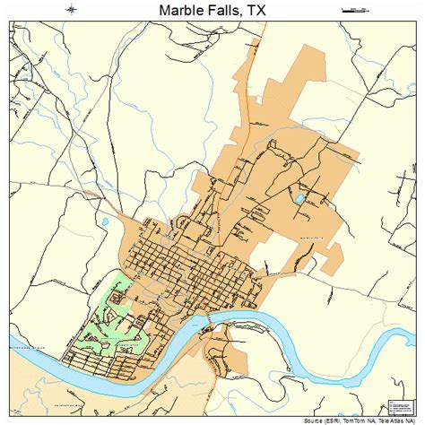 texas waterfalls map marble falls texas map 4846584