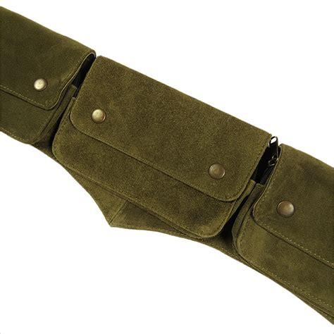suede leather belt bag pouch pocket waist hip bum wear