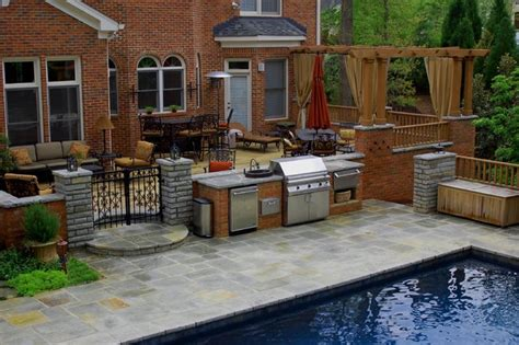 Patios By B And B by Swimming Pool Patio