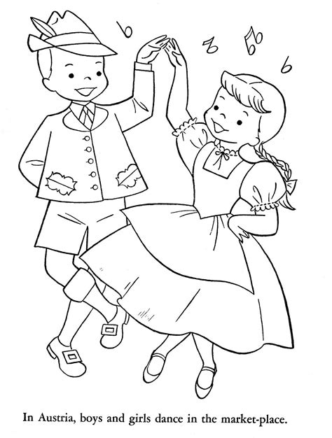coloring pages for christmas in sweden children of other lands 1954 england sweden hungary