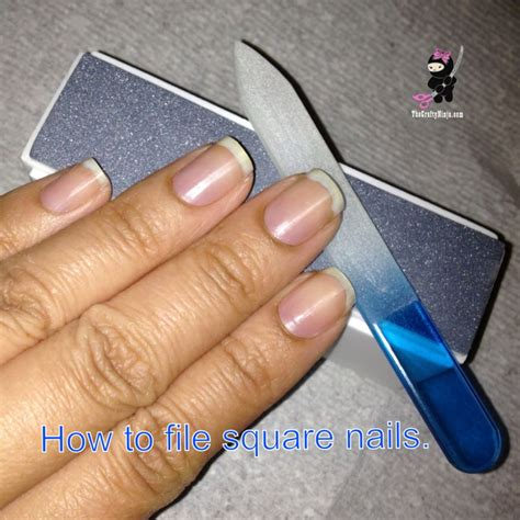how to file nails how to file square nails the crafty