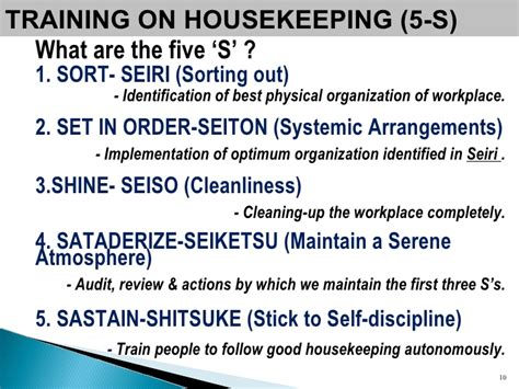 Find Housekeeping by Program On 5 S