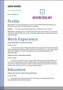 Resume Templates Accounting by Accountant Resume Sle 2016