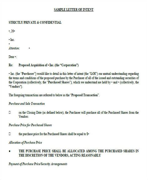 Ut Letter Of Intent letter of intent formats 53 exles in pdf word
