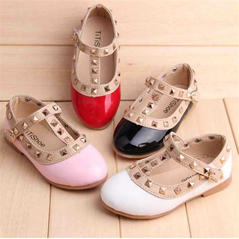 Flat Shoes Dm 98 1 new pu leather for children shoes autumn flats with heels breathable sneakers