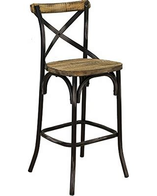 Rustic Wood And Iron Bar Stools by Amazing Deal On Rustic Iron Bar Stool W Back Reclaimed