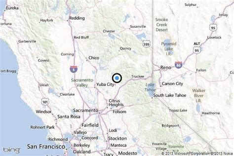 map of nevada and california with cities earthquake 3 0 quake strikes near nevada city california