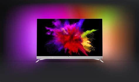 tv pictures philips unveils 55 quot oled tv with ambilight 4k hdr