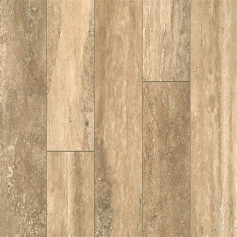 shop allen roth 5 23 in w x 3 93 ft l estate stone smooth tile look laminate flooring at lowes com