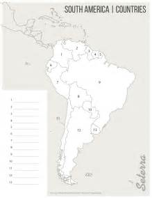south america countries printables map quiz