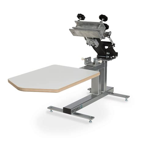 how to screen print 1 color bench press diy stand doovi manual screen printing machine precision table bench top