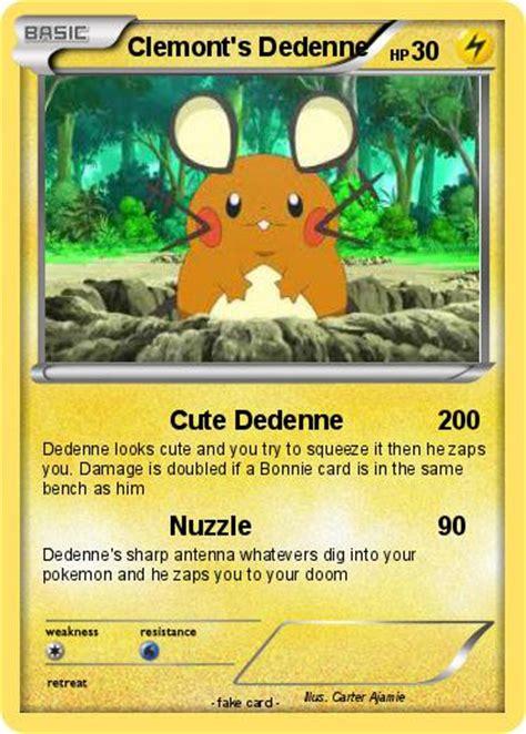Cards Dedenne pok 233 mon clemont s dedenne dedenne my card
