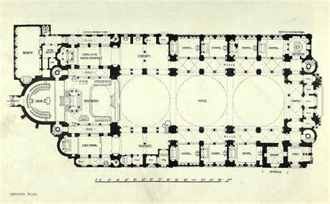floor plan of cathedral the plan of westminster cathedral london architectural