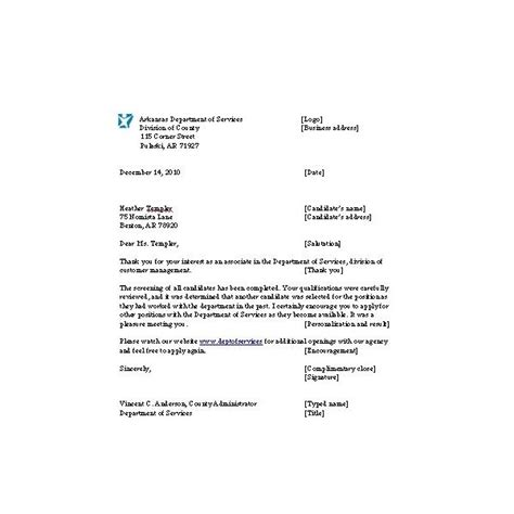 Rejection Letter Of Materials Letter For Rejecting Applicants Notes And Exle To