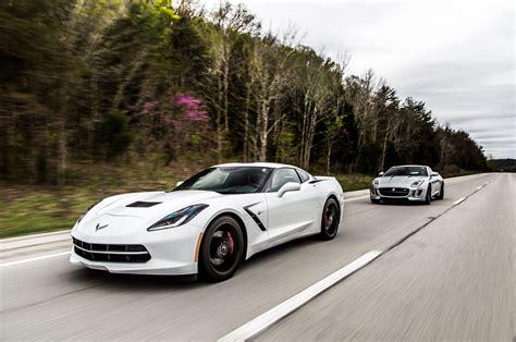 2015 jaguar f type and 2014 chevrolet corvette to