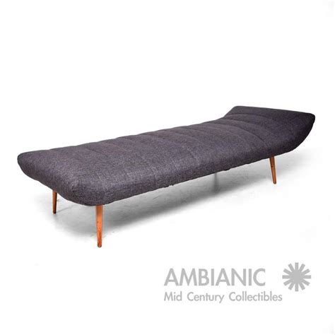 Modern Chaise Lounge Daybed mid century modern chaise lounge daybed attributed to paul