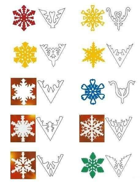 How To Make Simple Snowflakes Out Of Paper - 17 best ideas about snowflake designs on paper