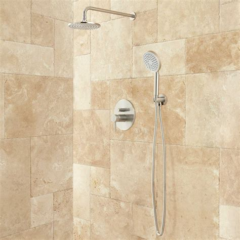 Bath Shower Systems Lattimore Shower System With Rainfall Shower Head Amp Hand