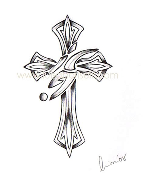 cross tattoo stencil cross tattoos page 65