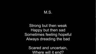 quot m s quot an emotional poem about multiple sclerosis by rose