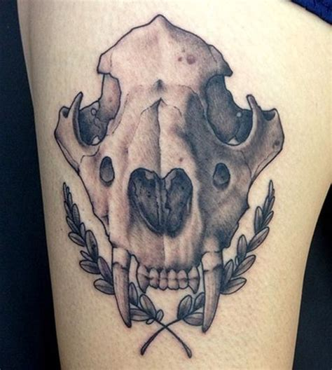 dog head tattoo designs top 30 amazing skull design ideas 2018