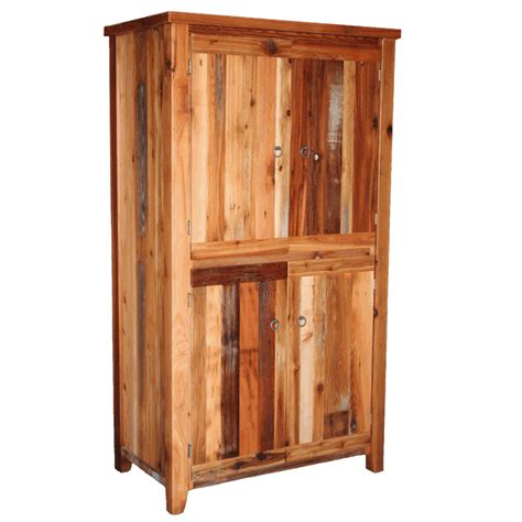 4 door armoire barnwood straight leg 4 door armoire