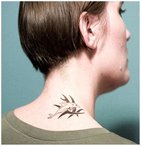 neck tattoo easy 83 cute neck tattoos for women