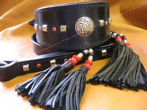Handmade Collars And Leads - quality handmade collars show sets and leads hide